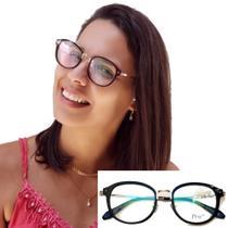 Armacao de Oculos Feminino Descanso Qualidade Premium Original - Prsr