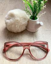 Armação de óculos para grau estiloso grande feminino barato - Prsr