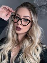 Armação Óculos de Grau Feminina Gatinho preta - Tr