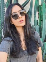 Armação Óculos Grau Clipon Sol Feminino Redondo 2 Em 1 Ariel 2.0 - Palas Eyewear