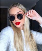 Armação Óculos Grau Clipon Sol Feminino Redondo 2 Em 1 Ariel 2.0 Preto - Palas Eyewear