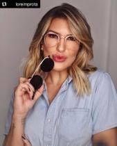 Armação Óculos Grau Clipon Sol Feminino Redondo 2 Em 1 Lari Dourada - Palas Eyewear