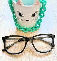 Armação sem grau transparente oculos das famosas de luxo - Prsr