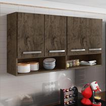 Armário Aéreo Móveis De Cozinha Multiuso 4 Portas Castani - Brienza Movelaria