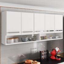 Armário Aéreo Móveis De Cozinha Multiuso 5 Portas Branco - Brienza Movelaria