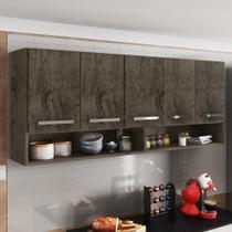 Armário Aéreo Móveis De Cozinha Multiuso 5 Portas Castani - Brienza Movelaria
