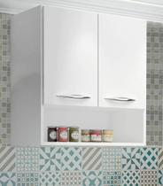 Armário Aéreo multiuso lavanderia Cozinha Branco - Magazine rm