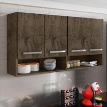 Armario Aereo para Cozinha 4 Portas Castani Bulgária Brienza Movelaria -