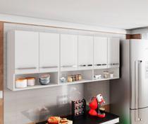 Armario Aereo para Cozinha 6 Portas Branco Suriname Brienza - Brienza Decor