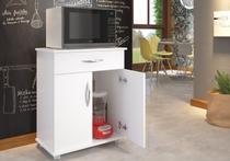 Armário Balcão Cozinha 2 Portas Microondas Bebedouro Chão Multiuso - Clickforte