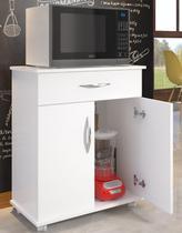 Armário Balcão Cozinha Multiuso 2 Portas 1 Gaveta Microondas Bebedouro - Clickforte
