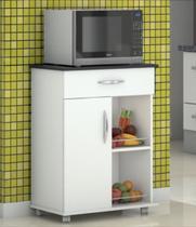 Armário Balcão Fruteira Suporte Microondas Cozinha Branco - Clickforte