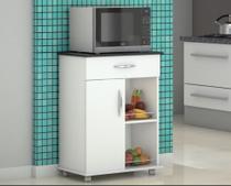 Armário Balcão Fruteira Suporte Microondas Cozinha Branco - Lar Decorado