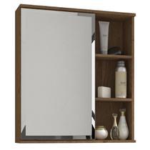 Armário Banheiro com Espelho Treviso MGM Amendoa - Mgm Moveis