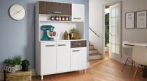 Ármario Cozinha Compacta 176x120x36Cm Marrom - Percasa -