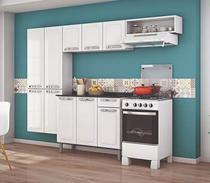 Armario Cozinha de Aço Itatiaia Rose  3 Peças  Sem Balcão  Branco -