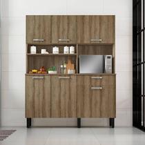 Armario Cozinha Kit 140 Itatiaia 6 Pts e 1 Gv Castanho -