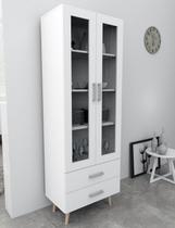 Armário Cristaleira 2 portas 2 gavetas ARM3004 - Appunto