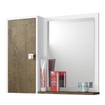 Armário de Banheiro Acre Branco Madeira - Bechara