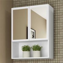 Armário de Banheiro com espelho e 2 portas Multimóveis Branco -
