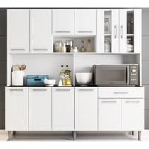 Armário De Cozinha 12 Portas Clara Branco Poliman -