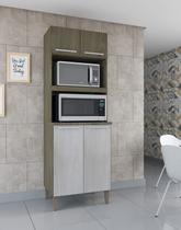 Armário de cozinha 4 portas kit torre quente móveis paraná -