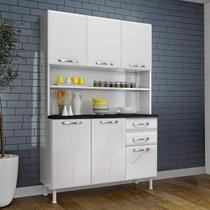 Armário de Cozinha 6 Portas 2 Gavetas Safira Telasul Branco -