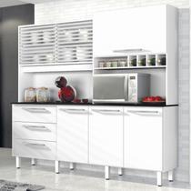 Armário de Cozinha 6 Portas 3 Gavetas Mega Yescasa Branco -