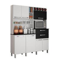 Armário de Cozinha 7 Portas 2 Gavetas Monte Rey Valdemóveis Branco/Preto - Movelito