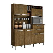 Armário de Cozinha 7 Portas 2 Gavetas Monte Rey Valdemóveis Ipê - Movelito