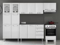 Armário de Cozinha Aço Itatiaia Itanew - 4 Peças + Balcão - Branco -