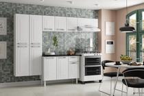 Armário de Cozinha com Balcão Colormaq Crystal 11 Portas 1 Gaveta em Aço - Branco - CZCRYSTAL/B3P1G -