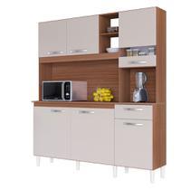 Armário de Cozinha Compacta Barbara 6 Portas 1 Gaveta Poquema -