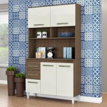 Armário de Cozinha Completa Aline Ambar / Off White - Aramóveis