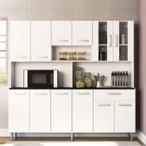 Armário de Cozinha Completa Compacta com 12 Portas Clara Branco - Poliman Móveis