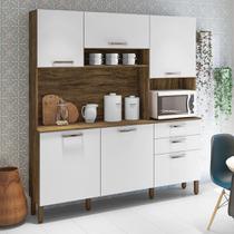 Armário de Cozinha Completa Ferrara Savana / Off White - Kit'S Paraná