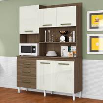 Armário de Cozinha Completa Mila Ambar / Off White - Aramóveis