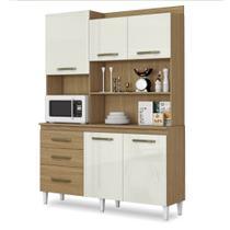 Armário de Cozinha Completa Mila Atacama / Off White - Aramóveis