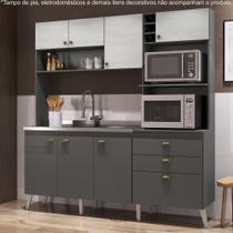 Armário de Cozinha Completo 1,86m Espaço para 2 Fornos Donna 299 Casamia -