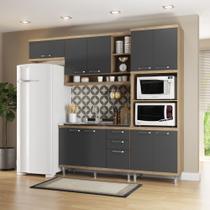 Armário de Cozinha Completo 4 peças sem tampo 2,60m 5828 Linha Sicília Multimóveis -