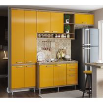 Armário de Cozinha Completo 4 peças sem tampo 2,60m 5840 Linha Sicília Multimóveis -