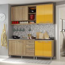 Armário de Cozinha Completo 4 peças sem tampo de pia 1,90m 5818 Linha Sicília Multimóveis -