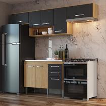 Armário de Cozinha completo 4pc 2,55m Bélgica A3098 Casamia -