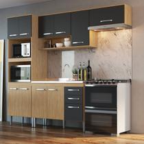 Armário de Cozinha completo 4pc 2,55m Bélgica A3099 Casamia -