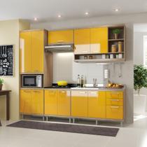 Armário de Cozinha Completo 5 peças sem tampo de pia 2,60m 5808 Linha Sicília Multimóveis -