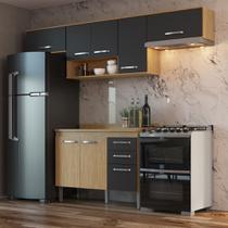 Armário de Cozinha completo 5pc 2,55m Bélgica A3093 Casamia -