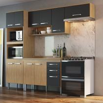 Armário de Cozinha completo 5pc 2,55m Bélgica A3095 Casamia -