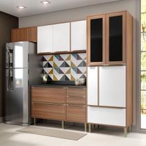 Armário de Cozinha Completo 5pc 2,60m Calábria 5453 Multimóveis -
