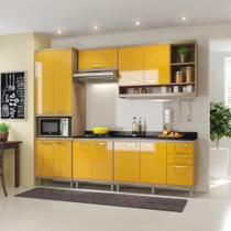 Armário de Cozinha Completo 6 peças 2,60m 5809 Linha Sicília Mltimóveis - Multimóveis