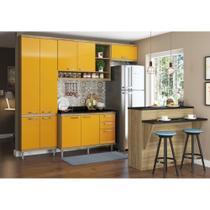Armário de Cozinha Completo 6 peças 2,60m 5846 Linha Sicília Multimóveis -